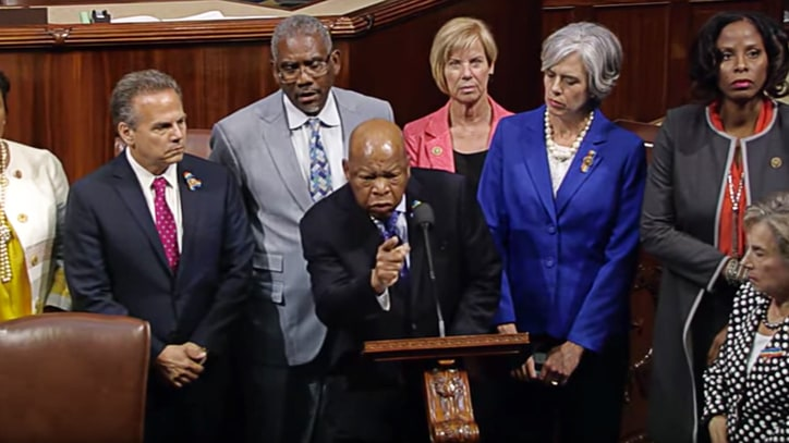Democrats Hold Sit-in on House Floor to Demand Action on Guns
