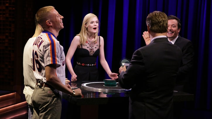 Watch Macklemore, Elle Fanning Play Catchphrase on 'Fallon'