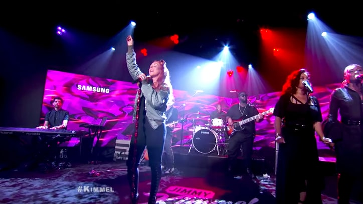 Watch Christina Aguilera Belt Orlando Tribute 'Change' on 'Kimmel'