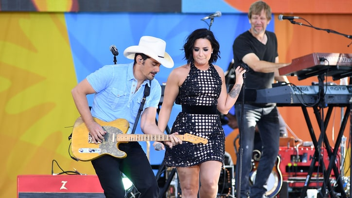 See Brad Paisley, Demi Lovato Deliver Sultry 'Fight' on 'GMA'