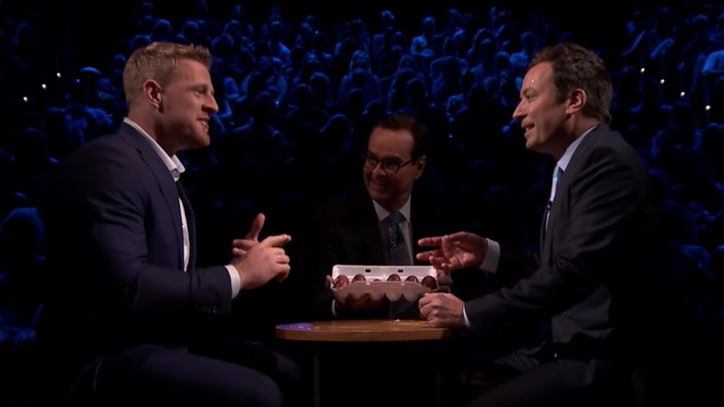 Watch J.J. Watt, Jimmy Fallon Play 'Egg Russian Roulette' on 'Tonight Show'