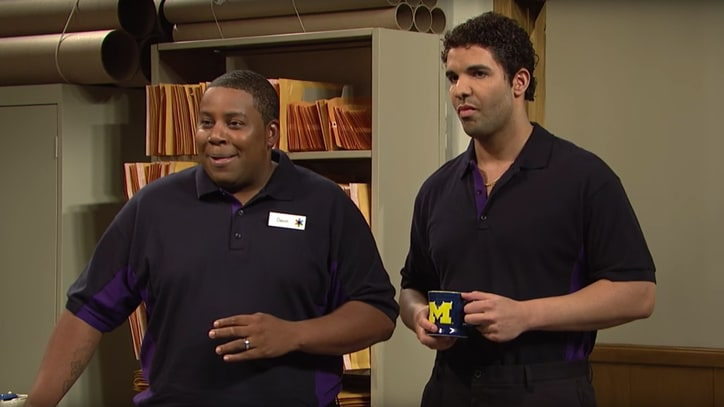 Watch Drake Struggle With Office Banter in Cut 'SNL' Skit