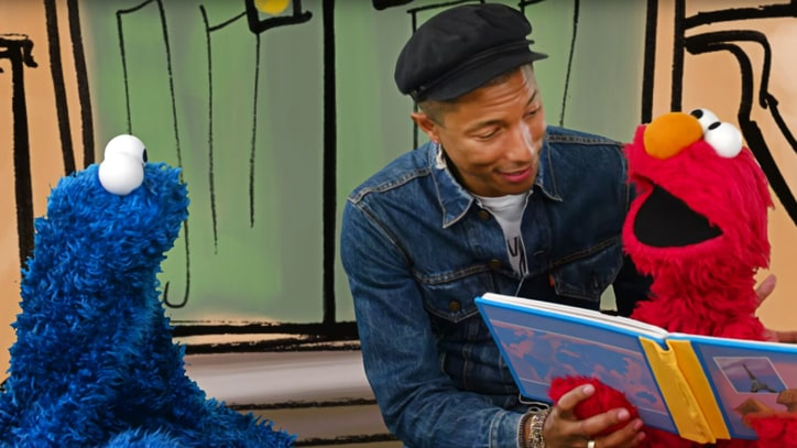 Watch Pharrell Sing About Joys of Reading on 'Sesame Street'