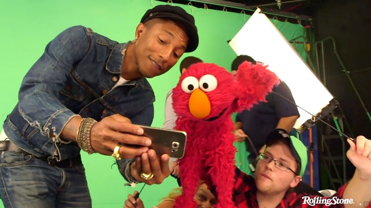 Go Behind the Scenes With Pharrell, Elmo on 'Sesame Street'