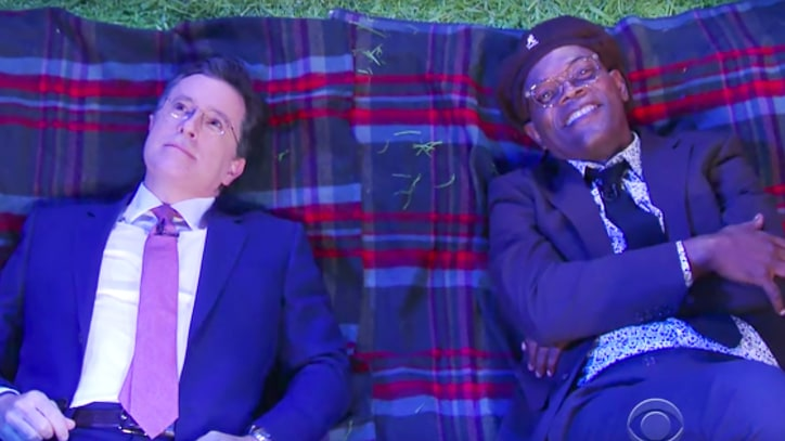 Watch Samuel L. Jackson Answer 'Deep' Life Questions on 'Colbert'