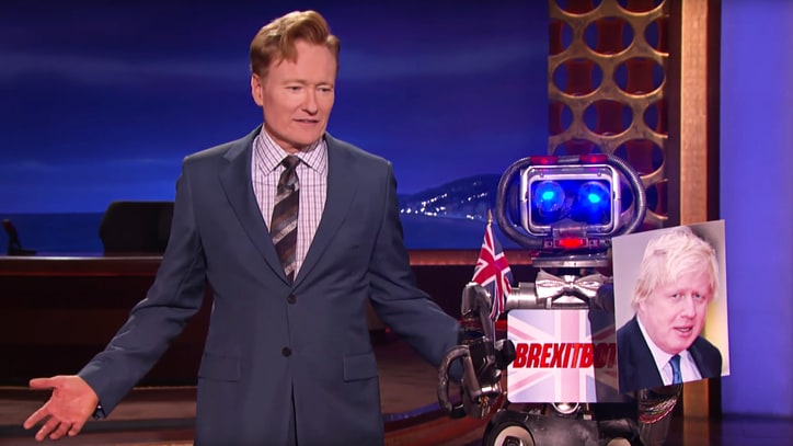 Watch 'Conan' Unveil Snarky, Rapid-Fire Brexit Joke Robot