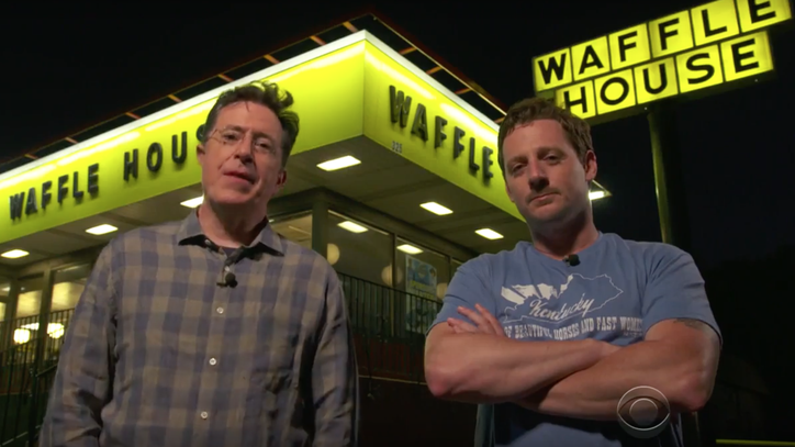 See Sturgill Simpson, Stephen Colbert Surprise Waffle House Diners