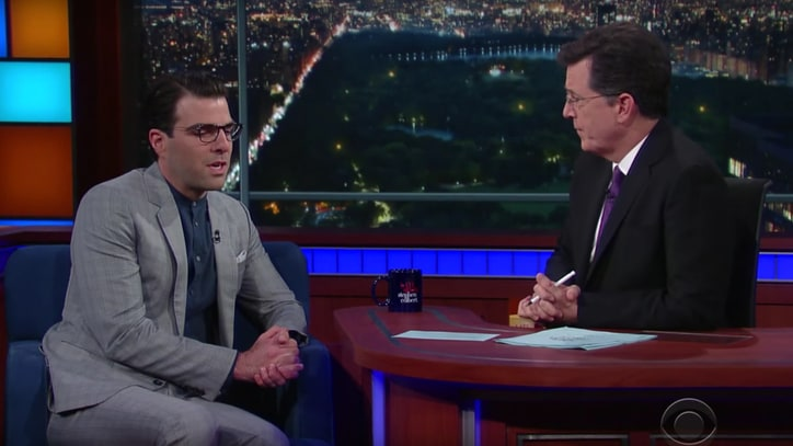 See Zachary Quinto Remember Anton Yelchin on 'Late Show'