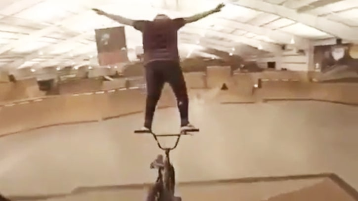 See Mind-Blowing Balancing Act by BMX Biker
