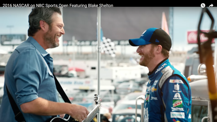 Blake Shelton Shoots Sunny Nascar Opening Video: The Ram Report