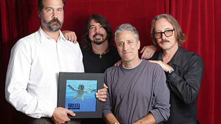 Jon Stewart Talks Nirvana With Novoselic, Grohl and Vig