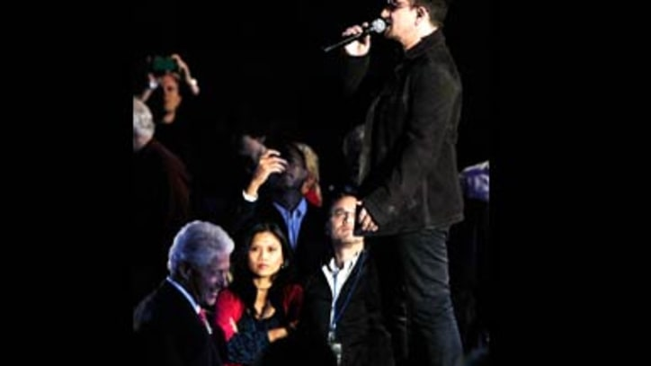 Lady Gaga, Bono Rock For Clinton Foundation
