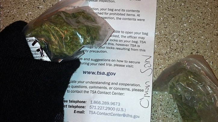 Airport Security Returns Freddie Gibbs' Weed With Note: 'C'mon Son'