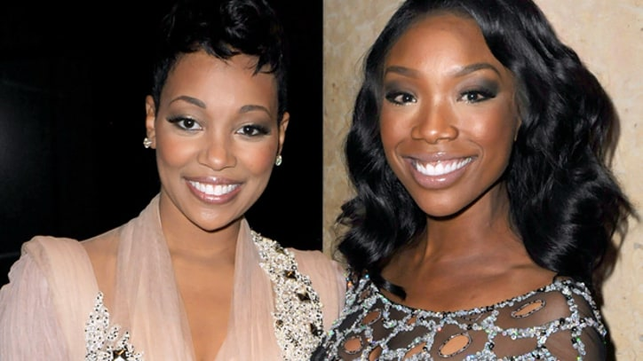 Brandy and Monica Reunite in Miami Studio