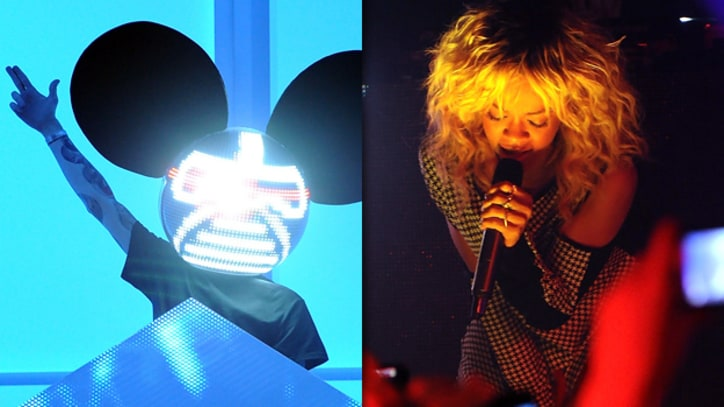 Deadmau5 and Rihanna Perform at Post-Grammy Charity Fundraiser