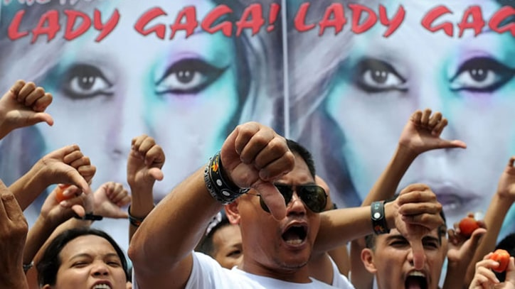 Protests Greet Lady Gaga's Arrival in the Philippines
