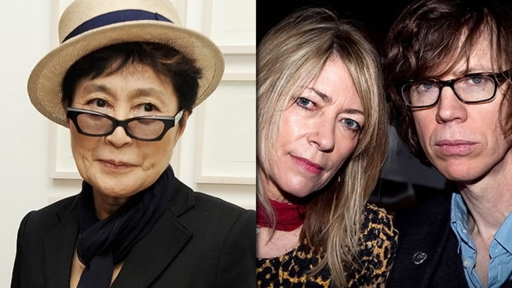 Yoko Ono Recording With Sonic Youth's Kim Gordon and Thurston Moore