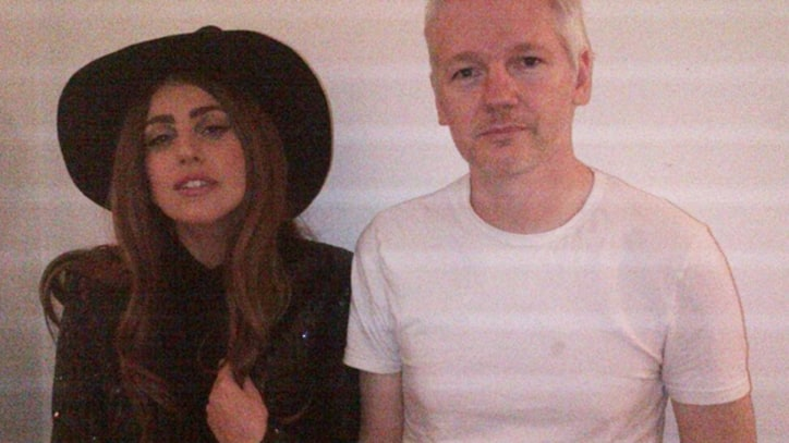 Lady Gaga Visits Julian Assange in London