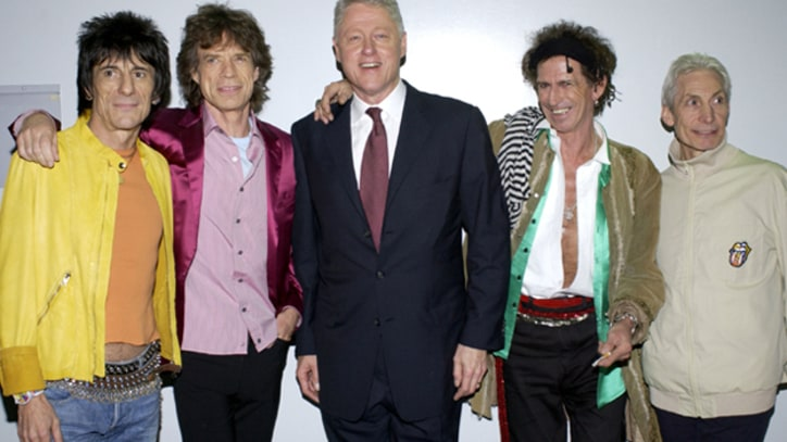 Rolling Stones Shoot Scorsese Film, Party with the Clintons