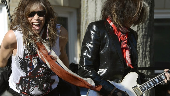 Aerosmith Rock Free Show in Front of Old Boston Apartment
