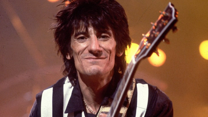 Ron Wood Breaks Both Legs in Car Accident