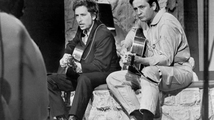 Johnny Cash and Bob Dylan Tape TV Number in Nashville