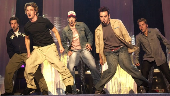 'N Sync Embark on Grand Pop Odyssey at Giants Stadium