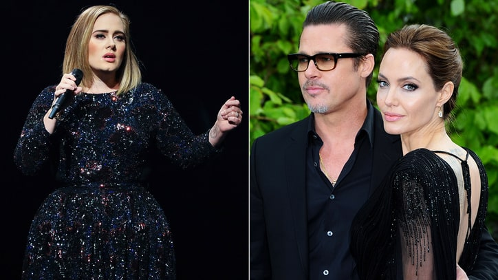 Watch Adele Dedicate NYC Concert to Brad Pitt, Angelina Jolie