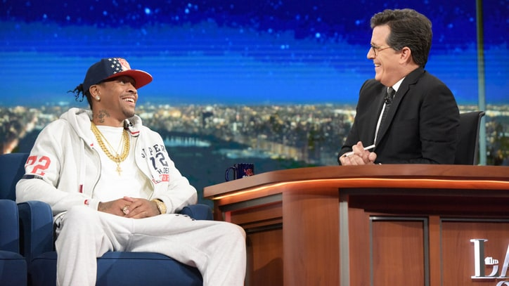 Watch Stephen Colbert Talk to Allen Iverson About 'Bittersweet' Legacy