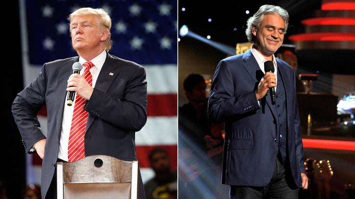 Andrea Bocelli Will Not Perform at Donald Trump Inauguration