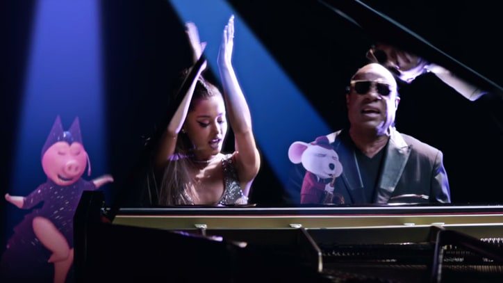 See Ariana Grande, Stevie Wonder Celebrate With Animated 'Sing' Characters