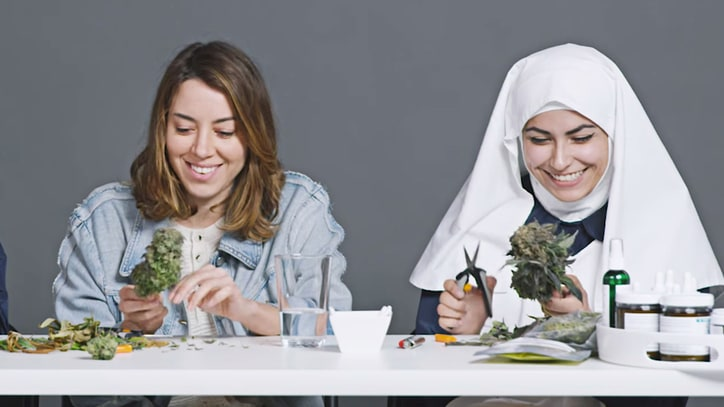 Watch Aubrey Plaza Get High, Talk Spirituality With Weed Nuns