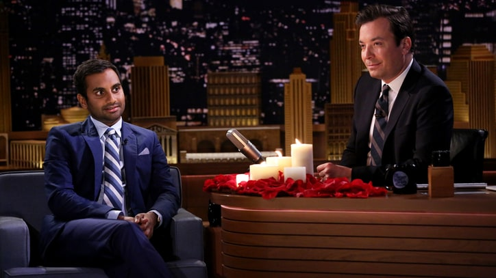 Watch Aziz Ansari, Fallon Read Sad Dating Texts by Candlelight