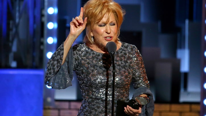 Watch Bette Midler Blow Through Play-Off Music in Touching Tony Awards Speech