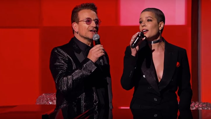 Watch Bono, Halsey Recap Insanity of 2016 on 'Kimmel'