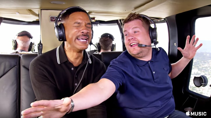 See Will Smith, Metallica, Ariana Grande in All-Star 'Carpool Karaoke' Trailer