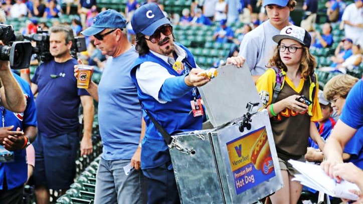 Watch Stephen Colbert Go Undercover to Sell Hot Dogs at Chicago Cubs Game