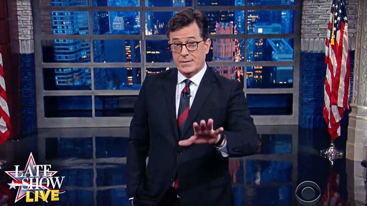 Colbert: The One Word That Sums Up Trump, Clinton Debate