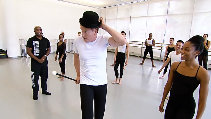 Watch Conan O'Brien Master Modern Dance at Alvin Ailey Theatre