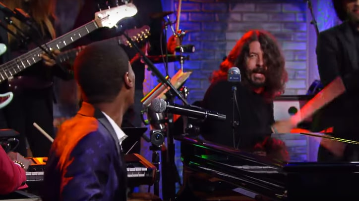 Watch Dave Grohl Jam With Preservation Hall Jazz Band on 'Colbert'