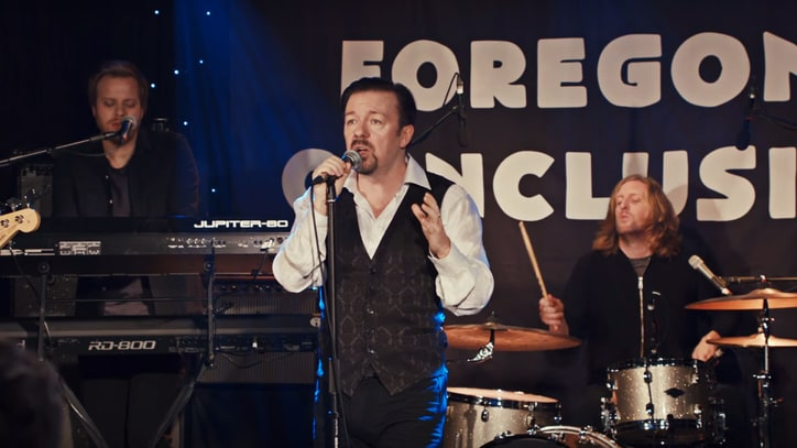 See Ricky Gervais Croon for David Brent's Hometown 'Slough'