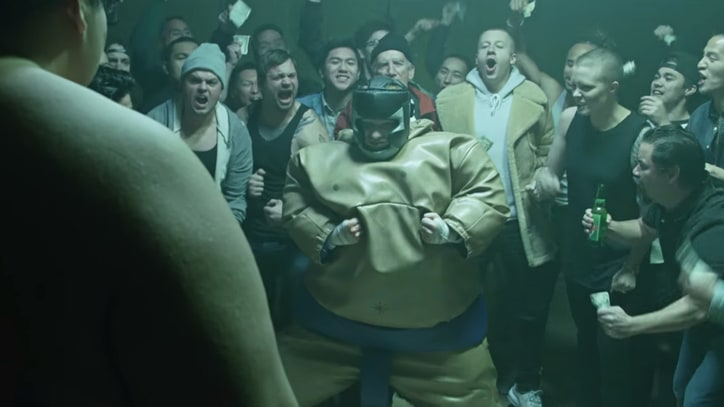 Watch Ed Sheeran's Inflatable Sumo Showdown in New 'Shape of You' Video