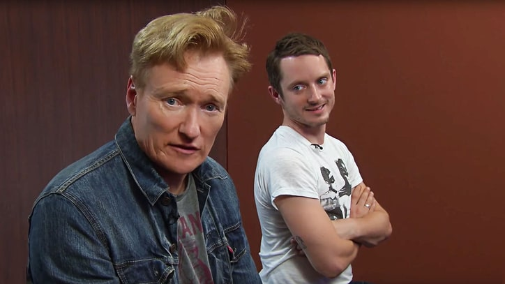 See Conan O'Brien, Elijah Wood Slam 'Final Fantasy' in Front of Creators