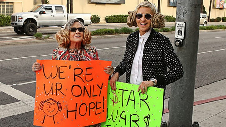 Watch Ellen DeGeneres' Touching Tribute to Carrie Fisher