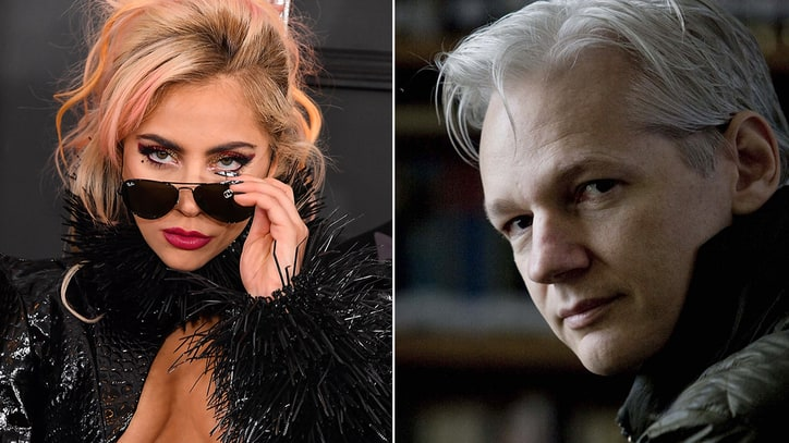 Exclusive: Watch Lady Gaga Question Julian Assange in Laura Poitras' 'Risk'