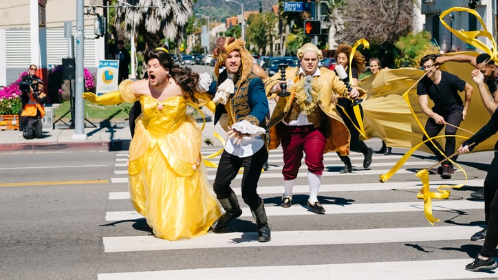 Watch James Corden Stage 'Beauty and the Beast' on a Crosswalk