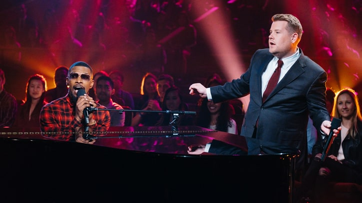 Watch James Corden, Jamie Foxx Sing Seductive 'Pop Goes The Weasel'