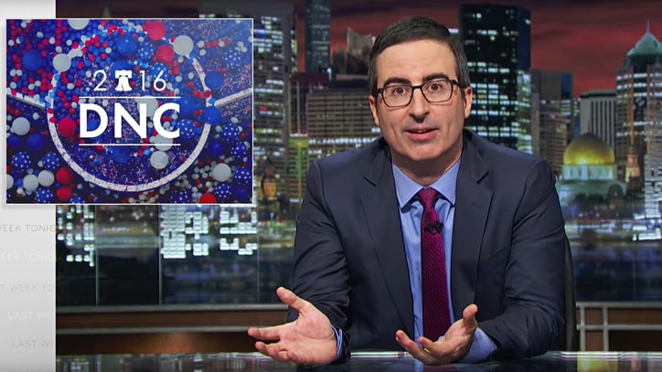 Watch John Oliver Talk DNC, 'Sociopathic Narcissist' Donald Trump