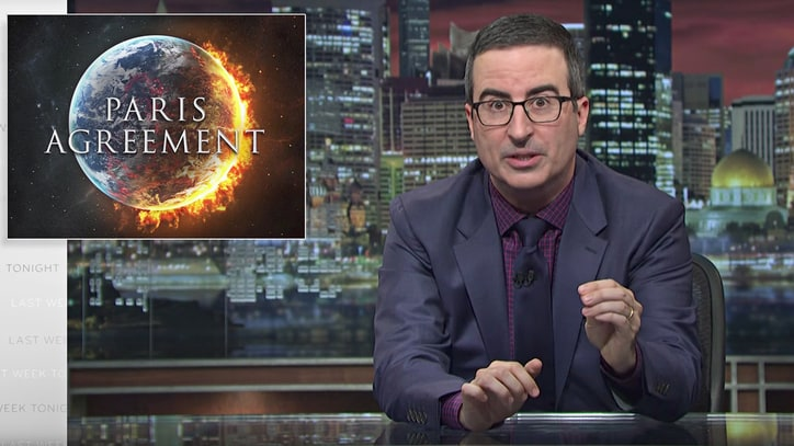 John Oliver Blasts 'F--king Egomaniac' Trump for Leaving Paris Climate Accord