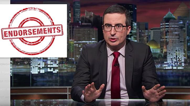 Watch John Oliver's Bizarre Apolitical Endorsements on 'Last Week Tonight'